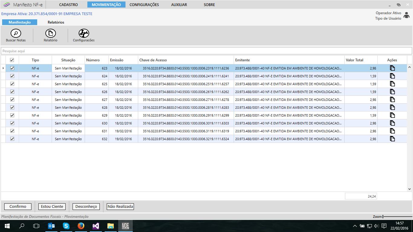 Baixe Xml NF-e Fácil - Imagem 1 do software