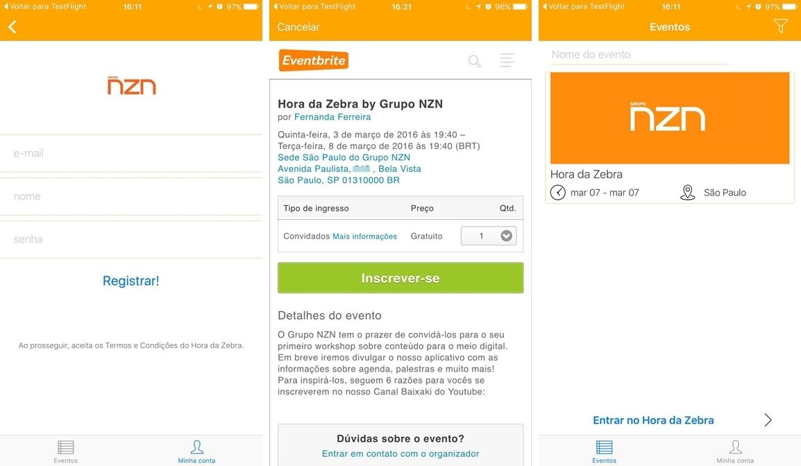 Eventbrite: app permite gerenciar eventos e venda de ingressos