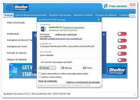 SpyShelter Free Anti-Keylogger Download para Windows em
