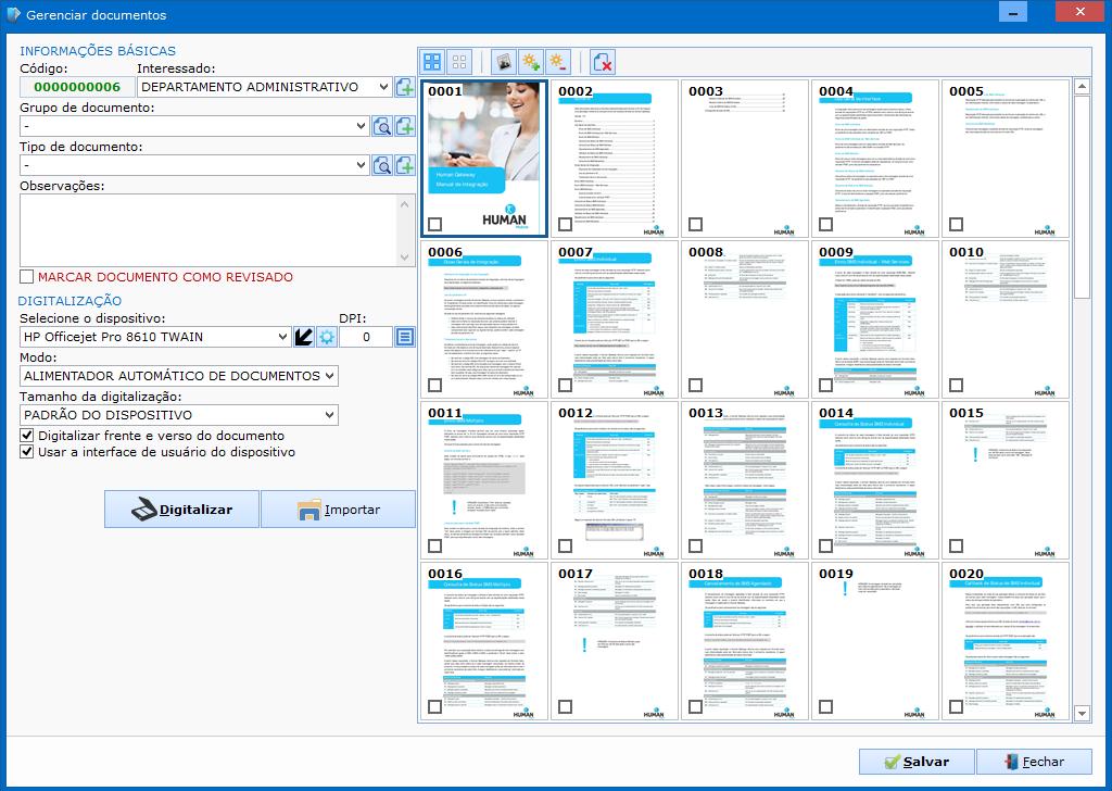 G.E.D - Gerenciador eletrônico de documentos - Imagem 1 do software