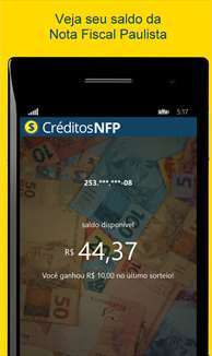 Créditos Nota Fiscal Paulistana - Imagem 1 do software