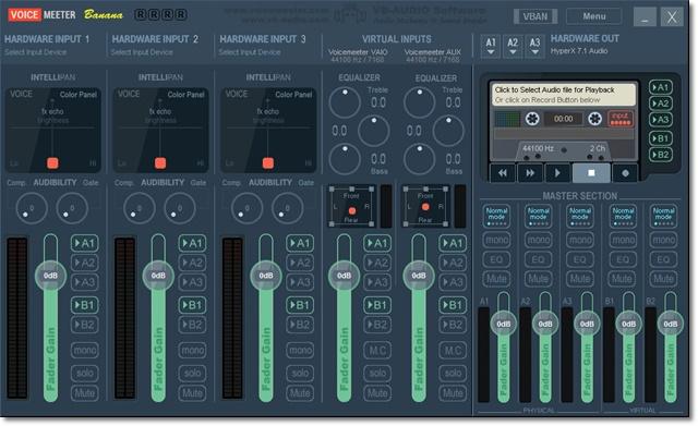 Voicemeeter Banana - Imagem 1 do software