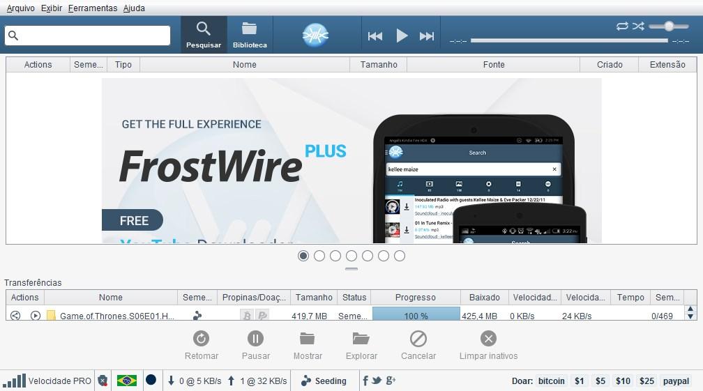 frostwire 4.21.1 gratuit