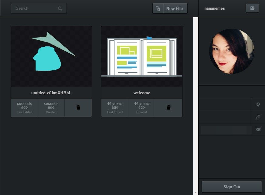 Vectr - Imagem 2 do software
