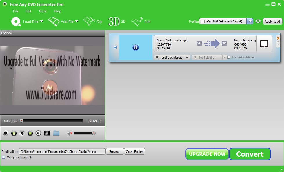 Free Any DVD Converter Pro - Imagem 1 do software