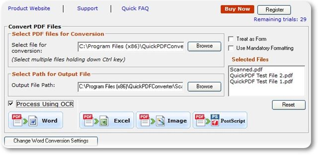 Free Quick PDF Converter Trial - Imagem 1 do software