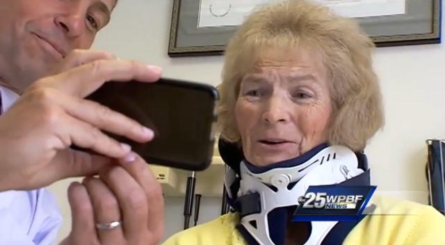 Cirurgia após novo acidente fez com que Mary Ann recuperasse a visão (Crédito: Reprodução)