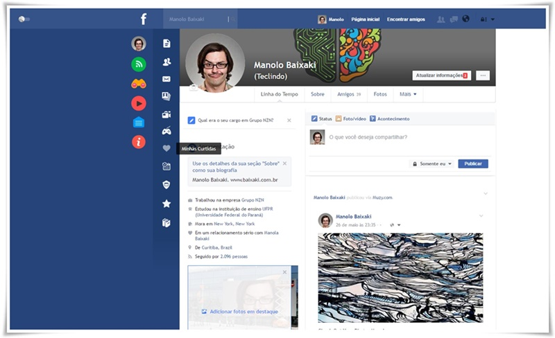Facebook Flat - Imagem 1 do software