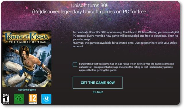Prince of Persia: The Sands of Time - Imagem 1 do software