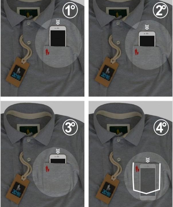 0c6e343454f09 Grife cria camisa com bolso secreto para enganar ladrão de smartphone