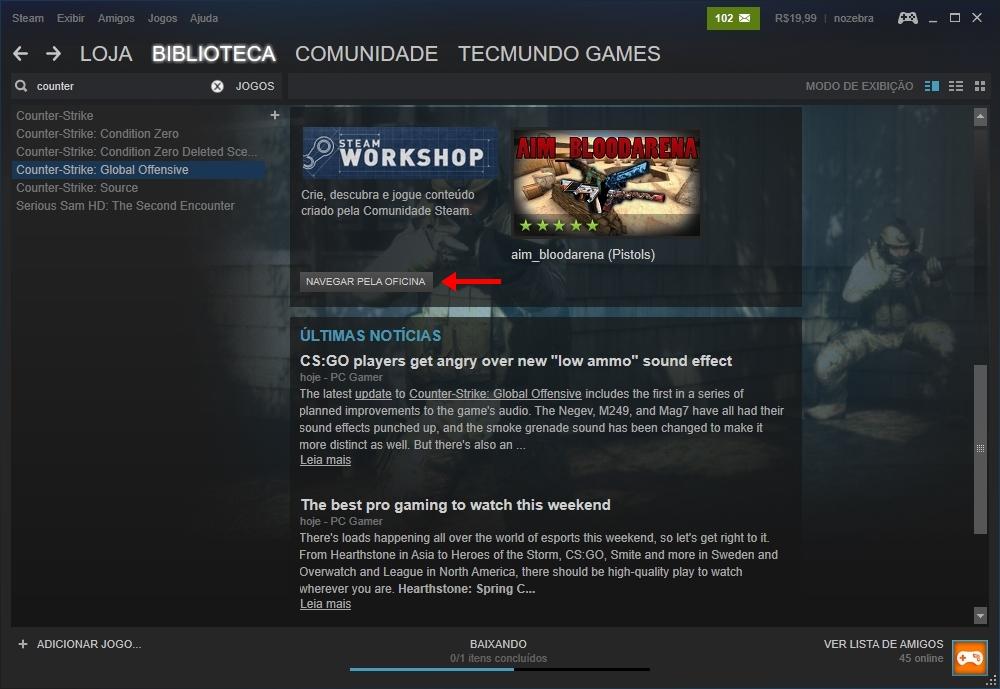 Steam: como baixar mapas adicionais para Counter-Strike