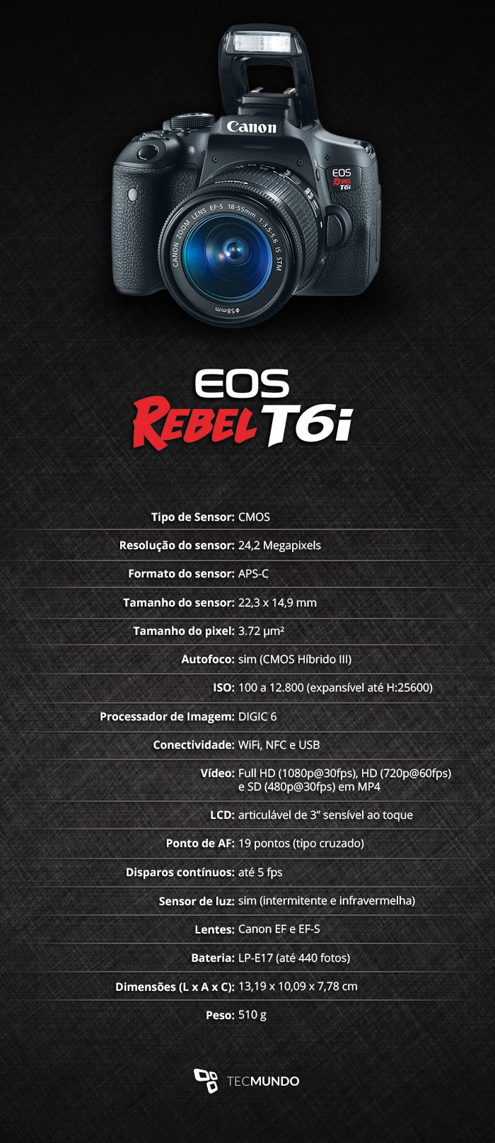 Review: câmera Canon EOS Rebel T6i - TecMundo