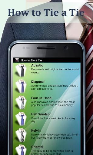 Como fazer um nó de gravata - Imagem 1 do software
