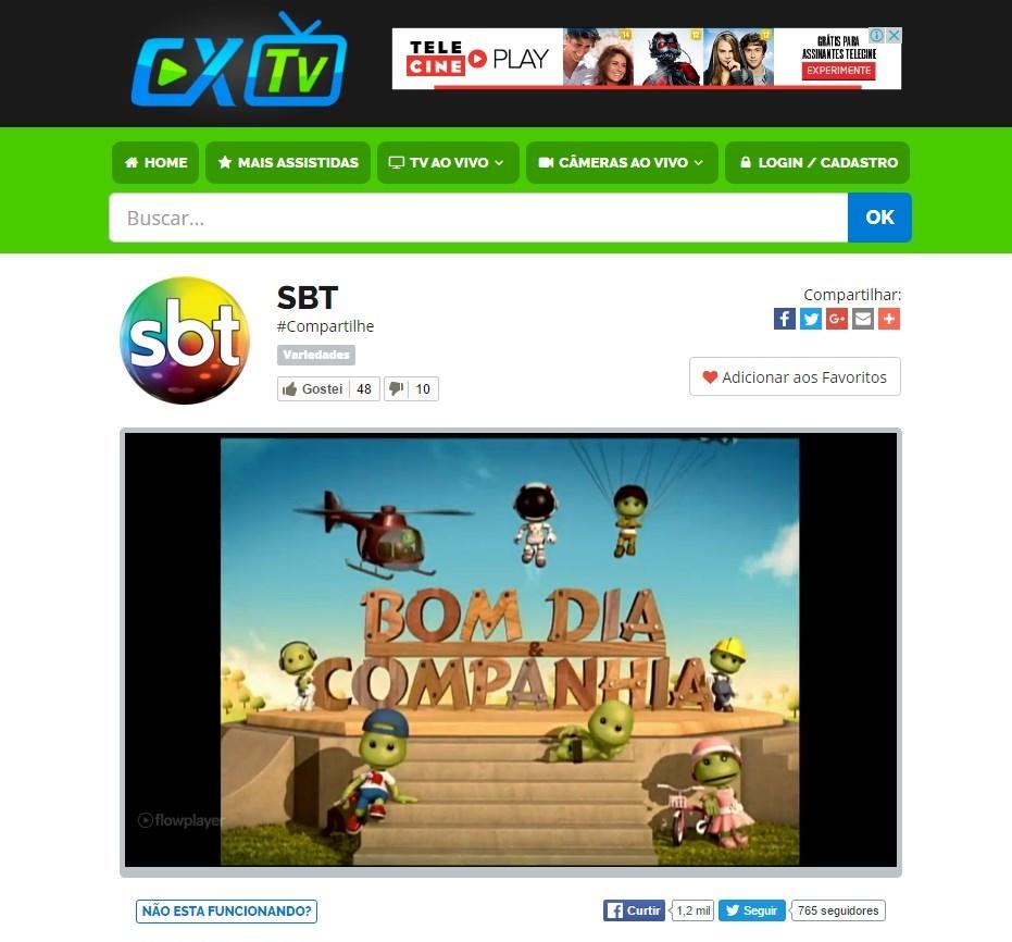 CXTV - Imagem 1 do software