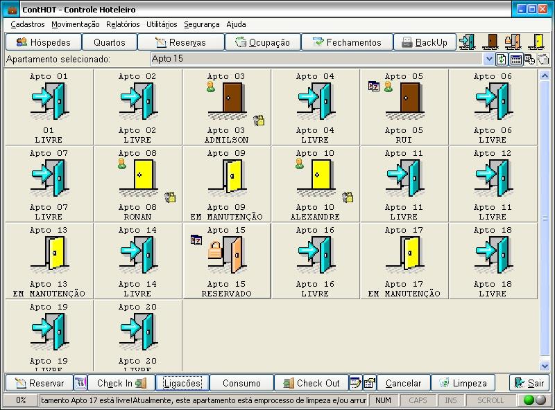 ContHOT - Controle Hoteleiro - Imagem 1 do software