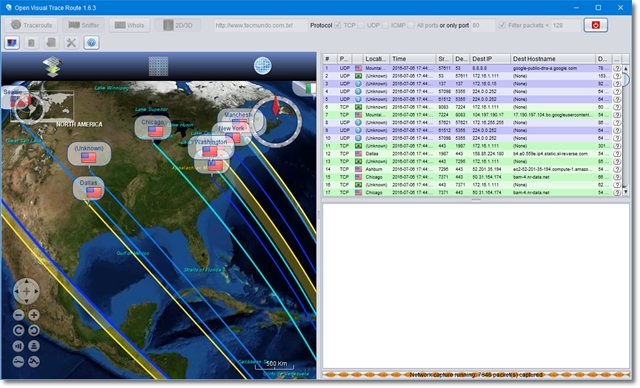 Open Visual Traceroute - Imagem 1 do software
