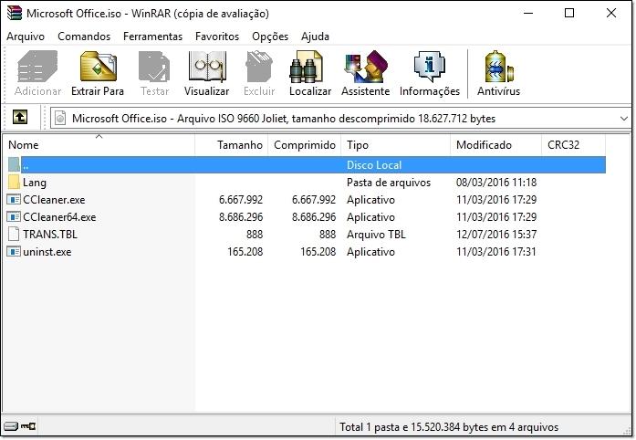 Como criar arquivos ISO para salvar todos os programas