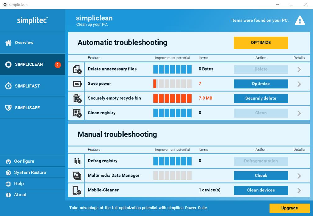 Simpliclean - Imagem 1 do software