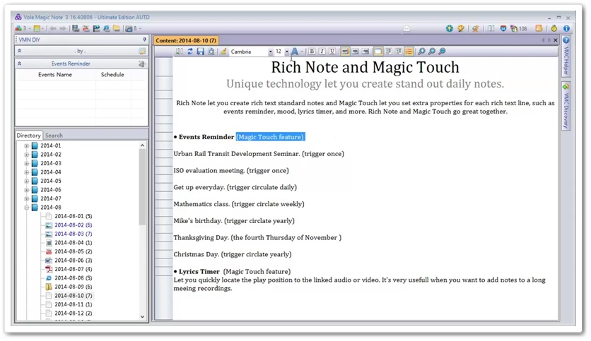 Vole Magic Note - Imagem 1 do software