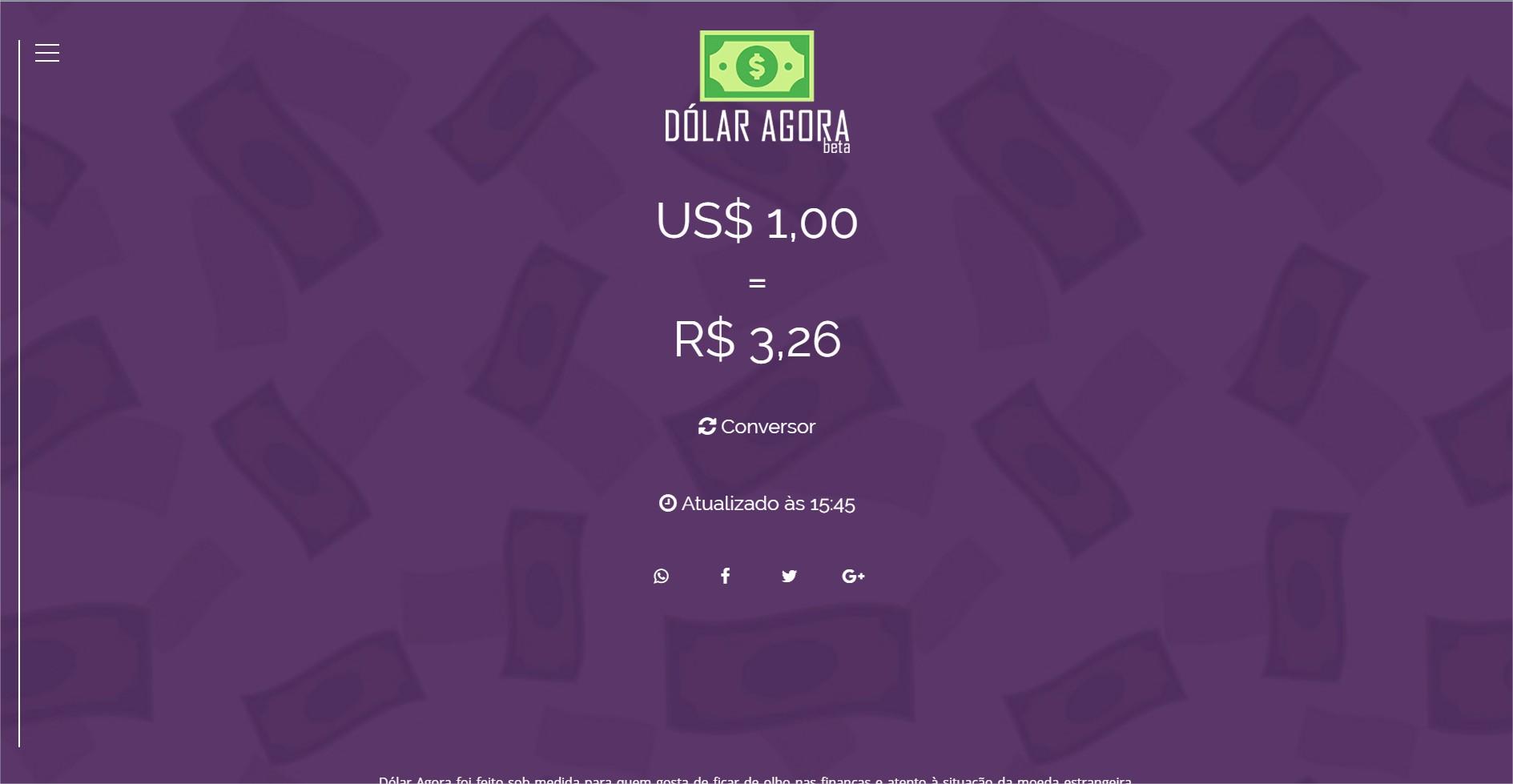 Dólar Agora - Cotação - Imagem 1 do software