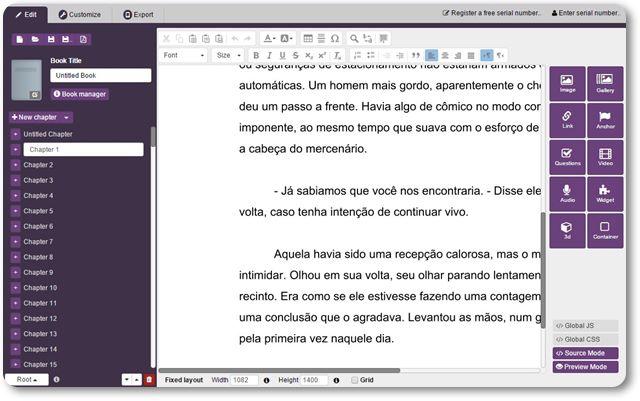 Kotobee Author - Imagem 1 do software