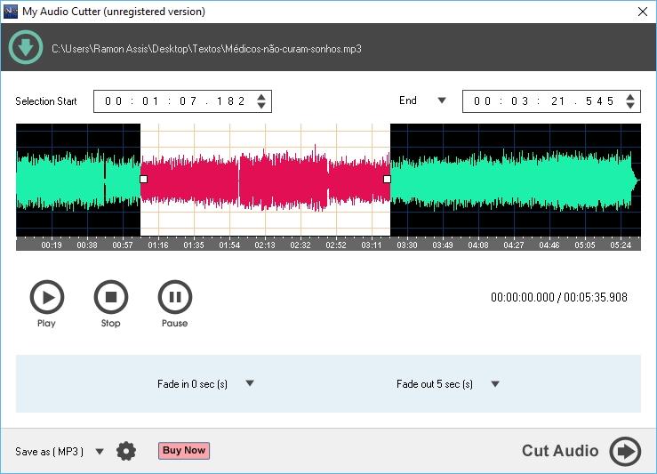 My Audio Cutter - Imagem 1 do software