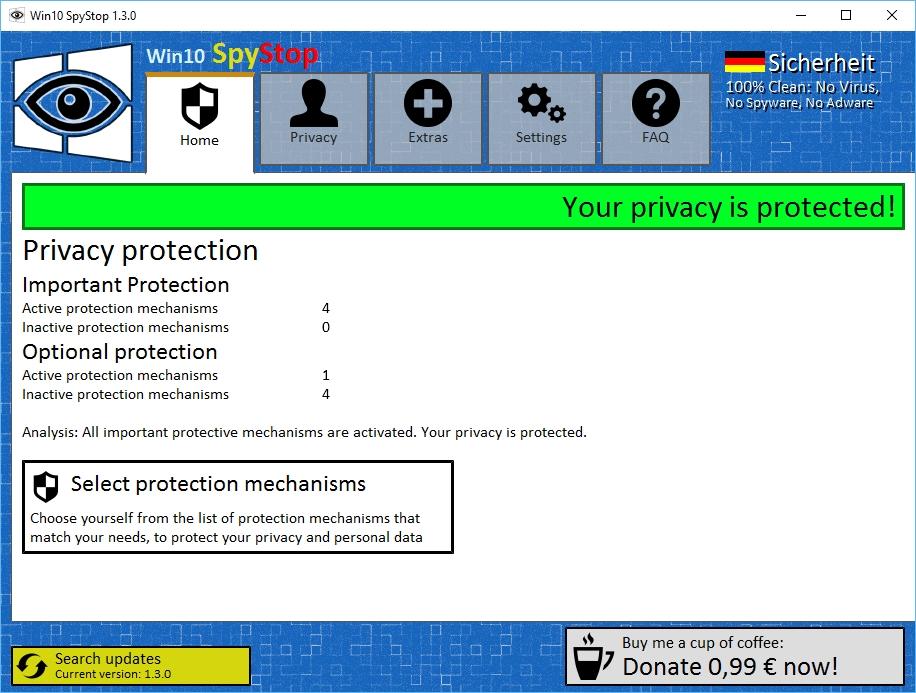 Win10 SpyStop - Imagem 1 do software