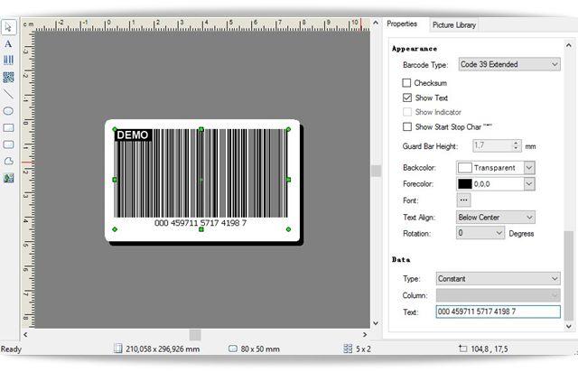 Barcode Label Design - Imagem 1 do software