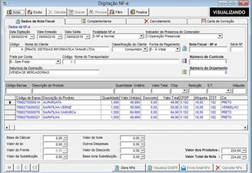 0129b59aaf95be Pratic Estoque e PDV - Automação Comercial Download para Windows em ...