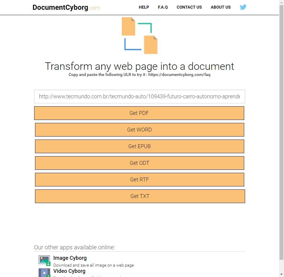 Document Cyborg - Imagem 1 do software