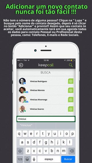 Keepcall - Imagem 2 do software