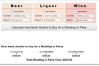 The Wedding Alcohol Calculator Download To Web Gratis