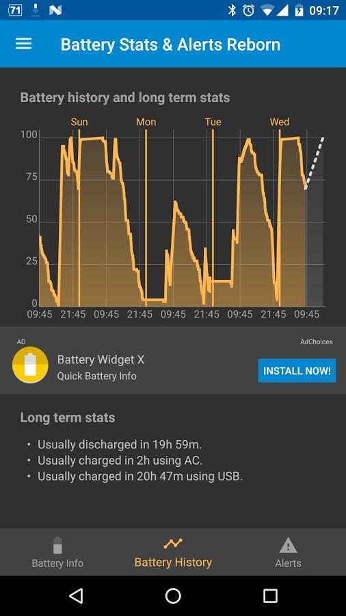 Battery Stats & Alerts Reborn - Imagem 1 do software