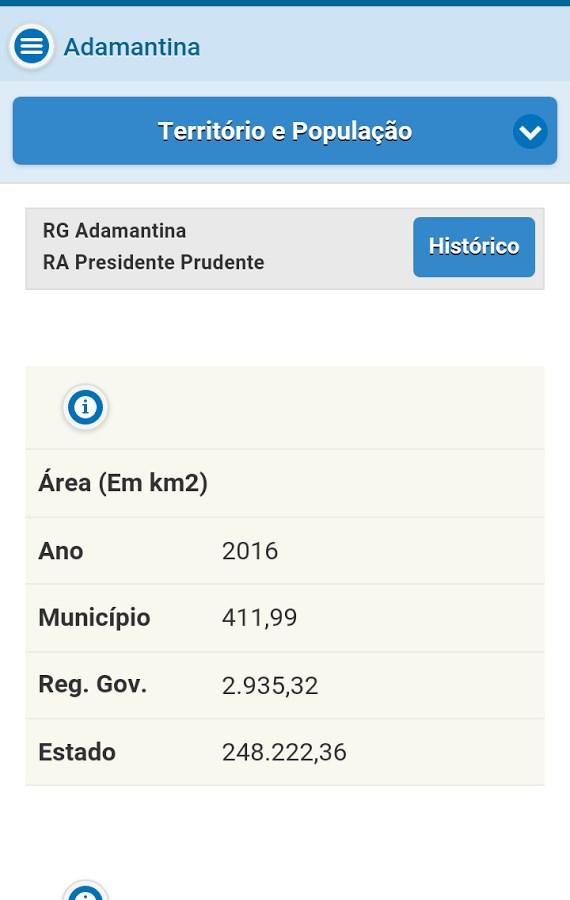Perfil Municípios Paulistas - Imagem 1 do software