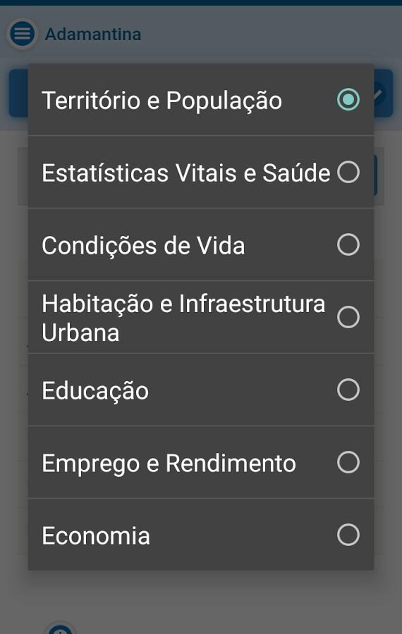 Perfil Municípios Paulistas - Imagem 2 do software