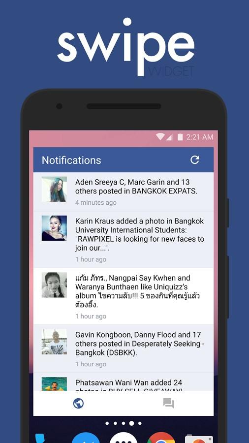 Swipe Widget for Facebook BETA - Imagem 1 do software
