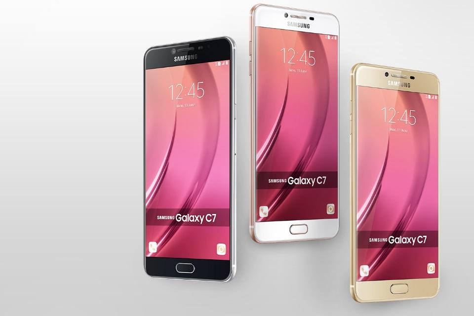 0421e84ed76 Samsung Galaxy C7 está indo para os EUA  será que vem para o Brasil