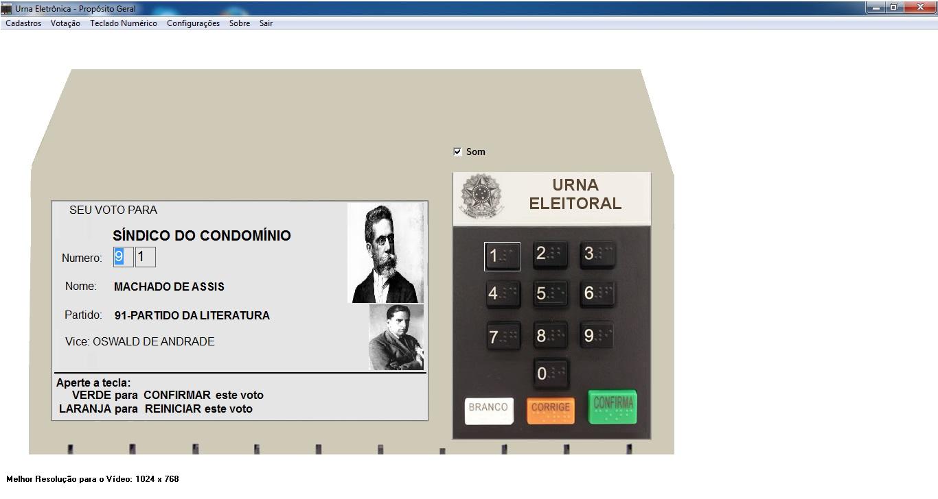 Urna Eletrônica de Propósito Geral - Imagem 1 do software