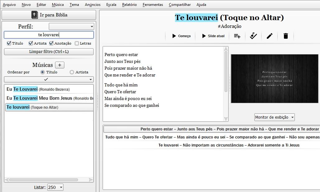 Holyrics - Imagem 2 do software