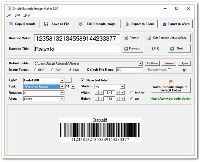 Simple Barcode Image Maker Download para Windows Grátis