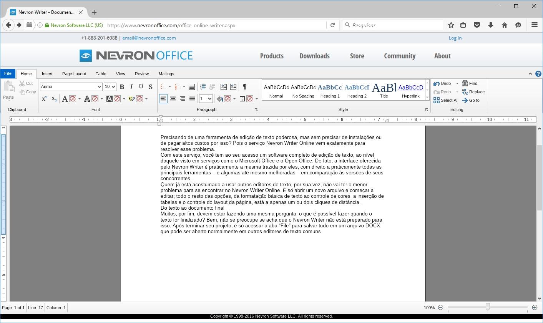 Nevron Writer Online