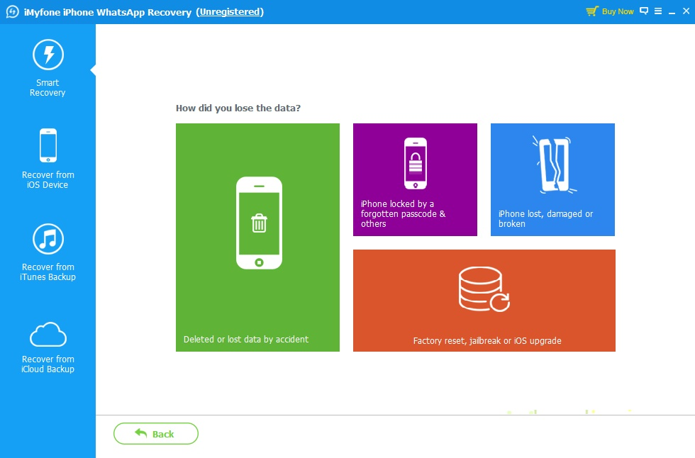 iMyFone iPhone WhatsApp Recovery - Imagem 1 do software