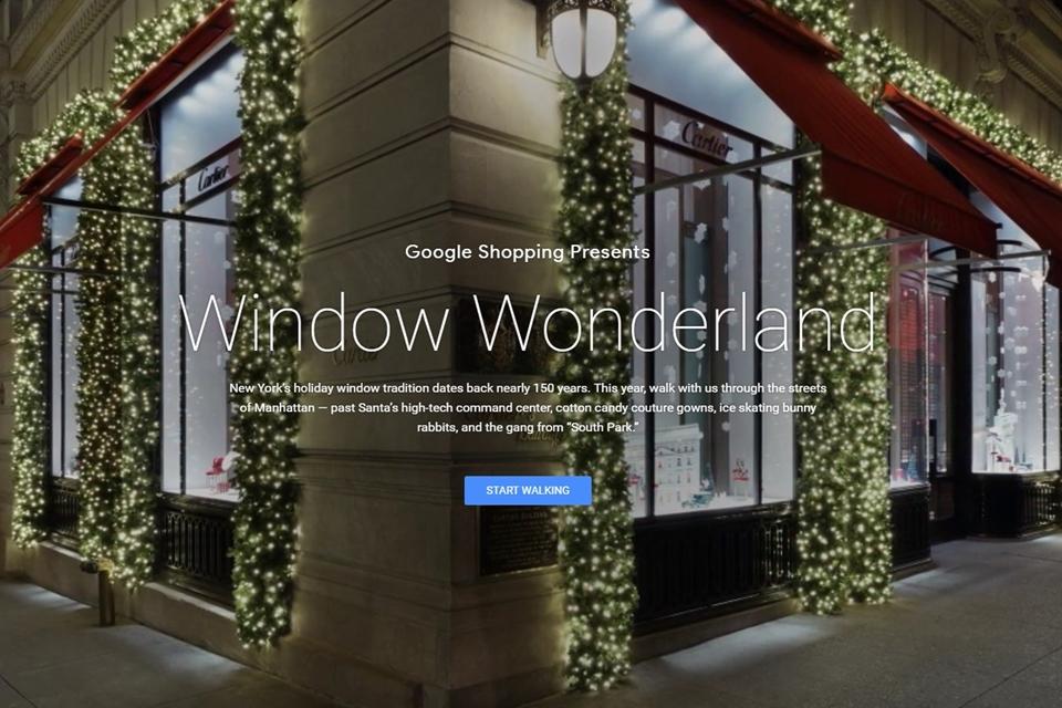 Google faz passeio virtual pelas vitrines natalinas das lojas de Nova York