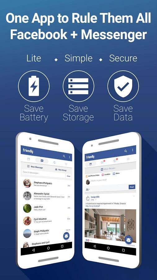 Friendly for Facebook - Imagem 1 do software