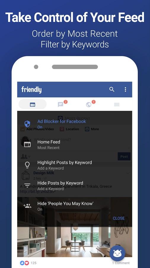 Friendly for Facebook - Imagem 2 do software