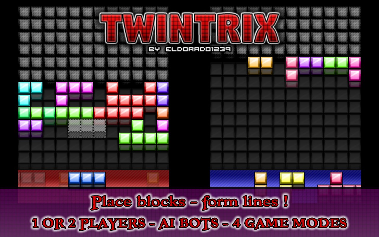 TwinTrix Falling Blocks Arcade - Imagem 1 do software