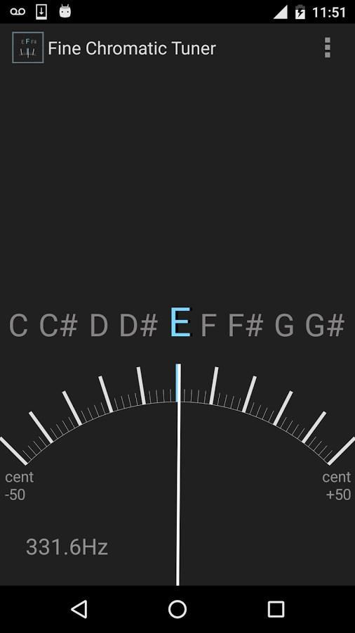 Fine Chromatic Tuner - Imagem 1 do software