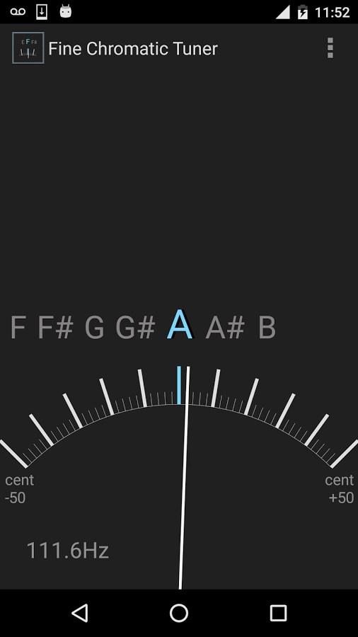 Fine Chromatic Tuner - Imagem 2 do software