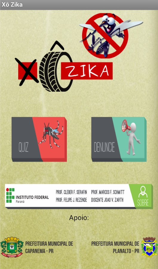 Xô Zika - Imagem 1 do software