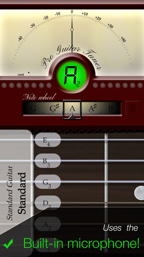 Pro Guitar Tuner - Imagem 1 do software